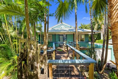 Highset character home with tropical gardens