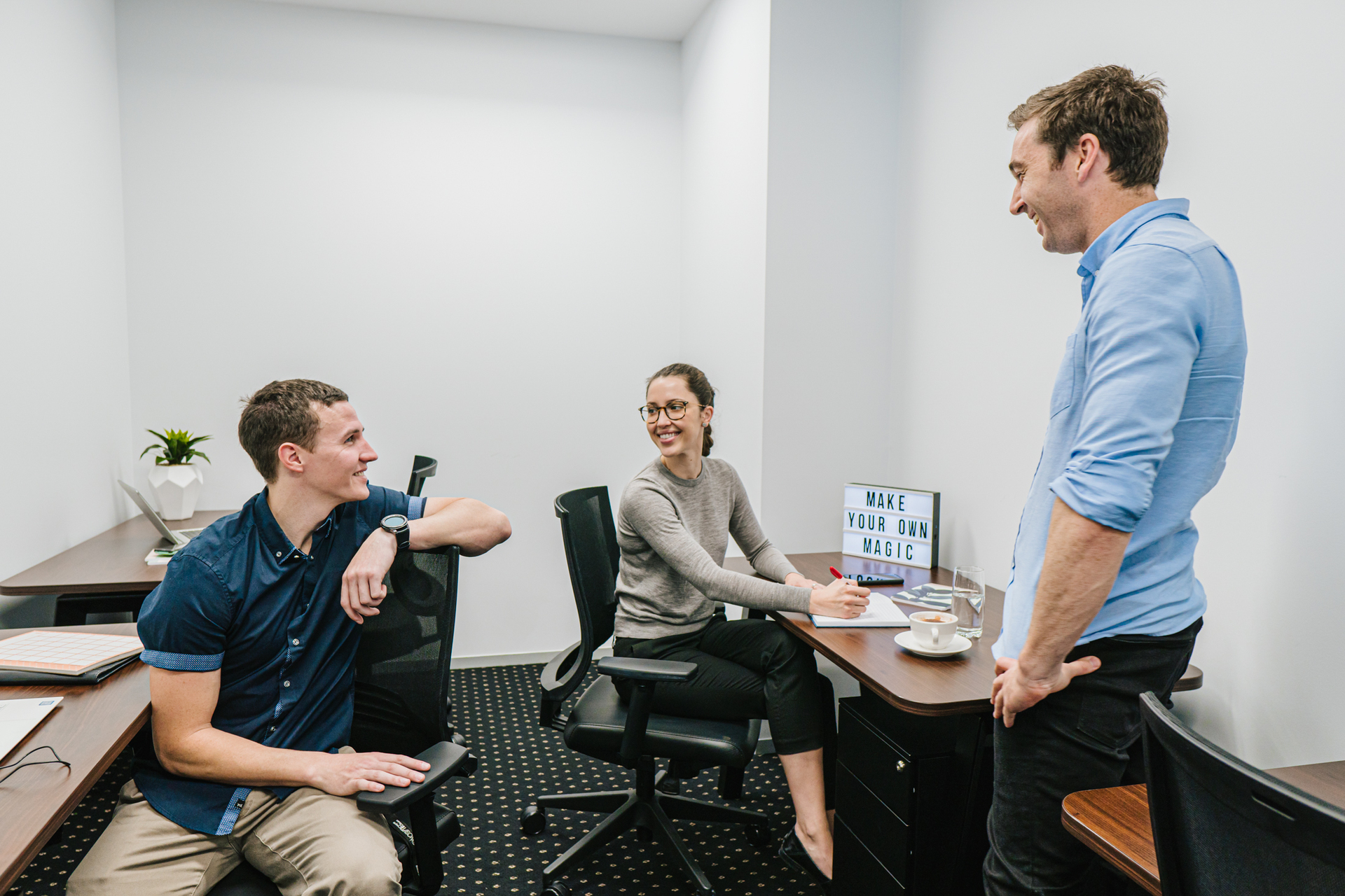 2-Person private office with unlimited access to Coworking breakout areas