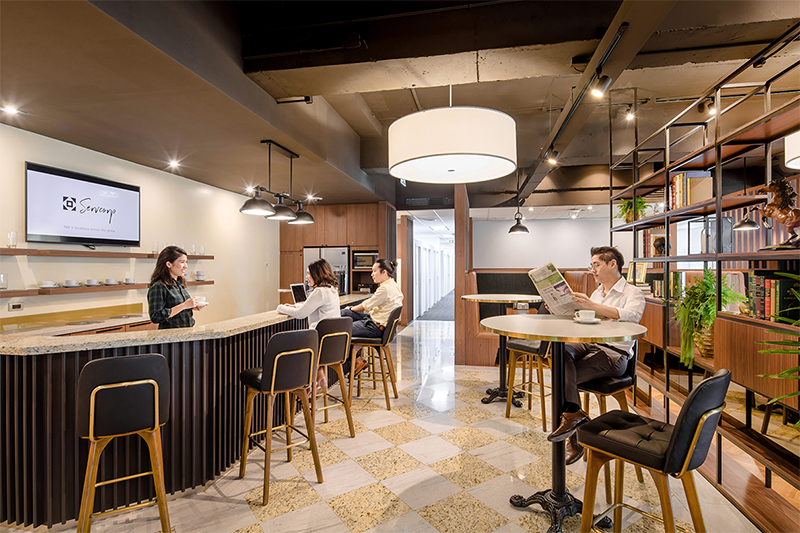 Position your business in a collaborative workspace for 2 people