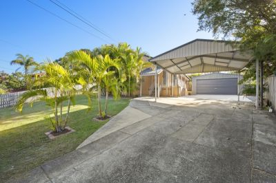 Large Fenced Yard with Huge Shed