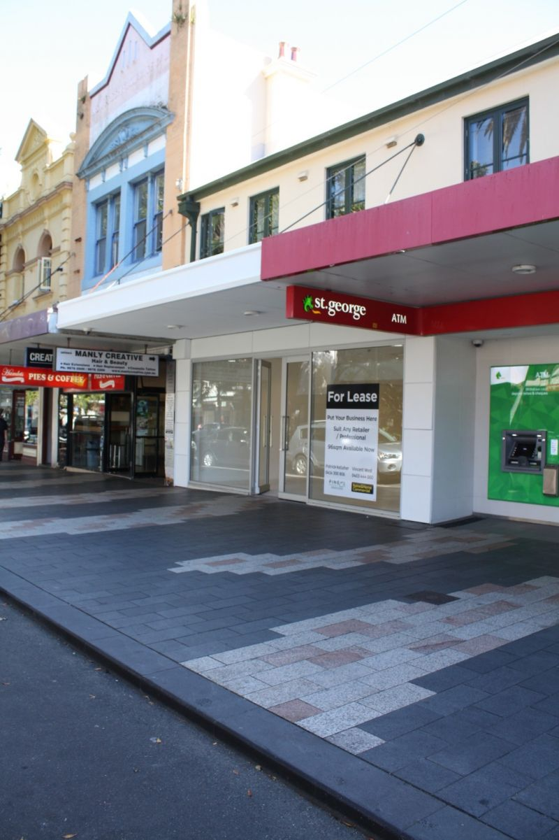 Prime Wide Glass Frontage on Manly Corso with Possibility for Food