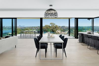 Brand new architectural masterpiece with superb views.