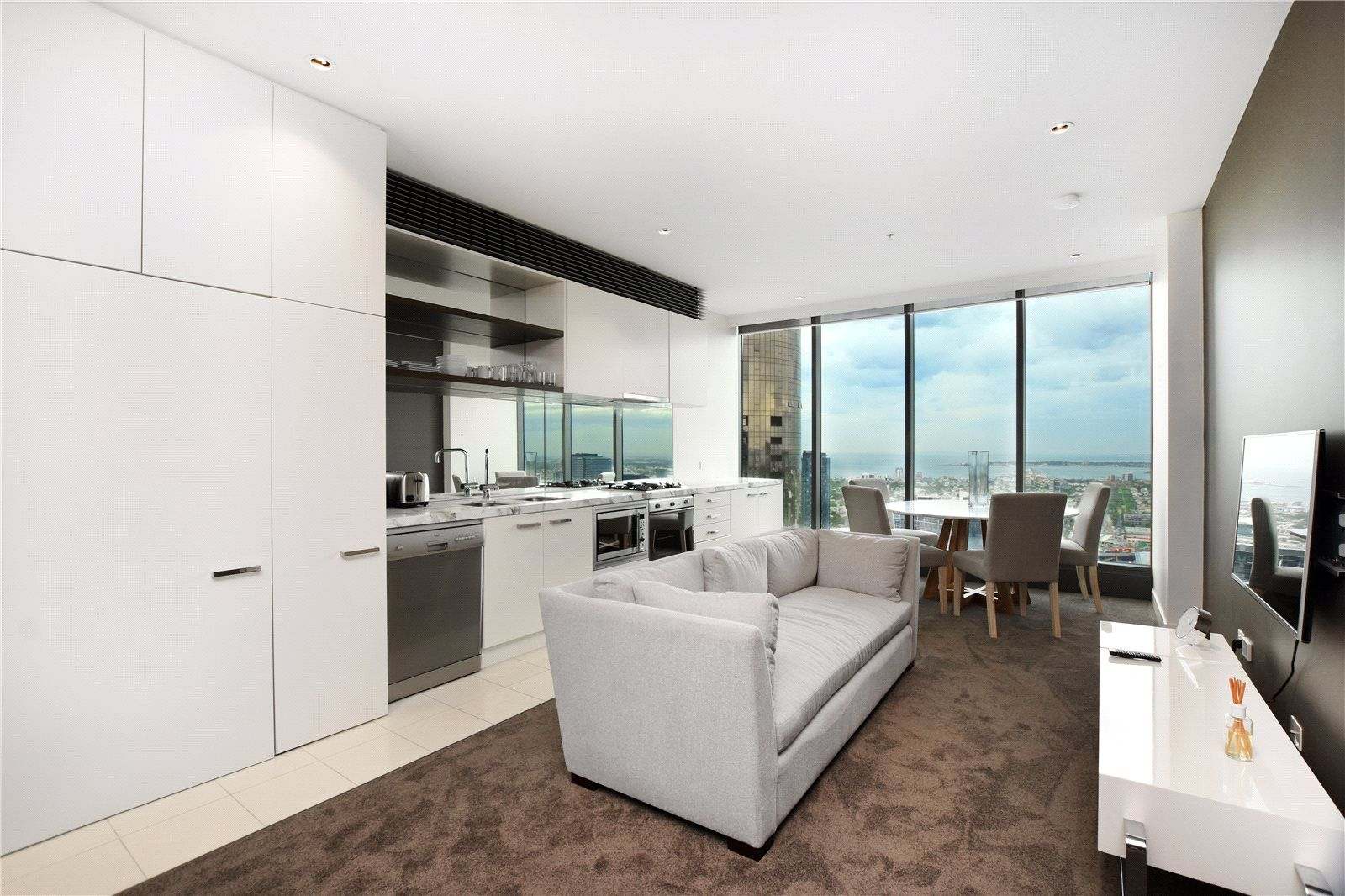 Fully Furnished One Bedroom Apartment on the 47th Floor of Freshwater Place!