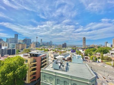 STYLISH FULLY FURNISHED TOP FLOOR STUDIO WITH PANORAMIC NORTHERLY VIEWS