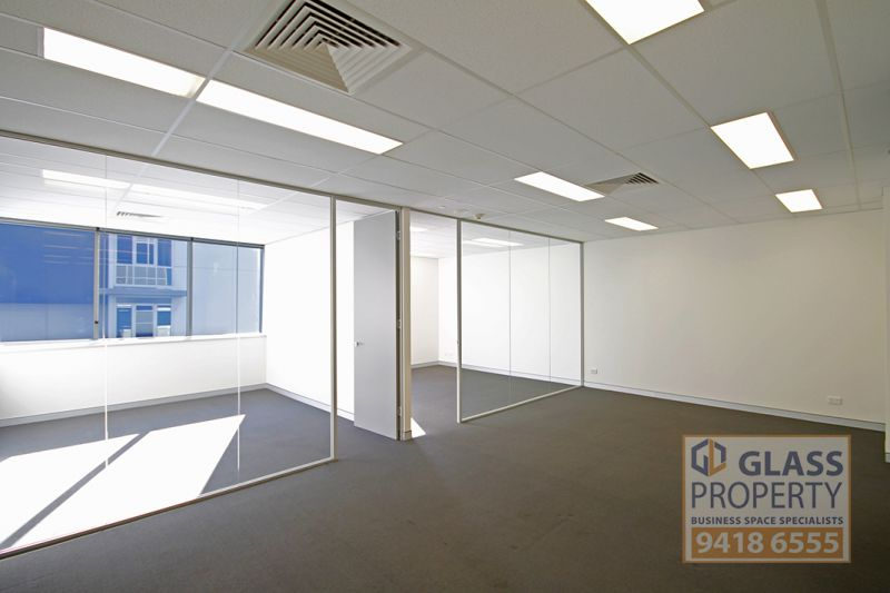 Fitted out office suite in a modern building.