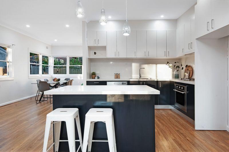 Sunlit modern residence in ideal setting