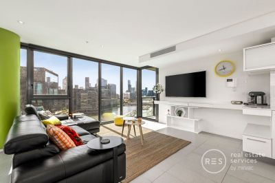 Unfurnished 3-bedroom + study apartment with stunning river and city views