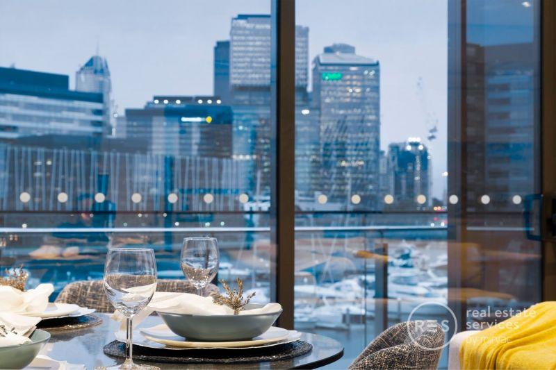Incredible water views and sleek modern podium living