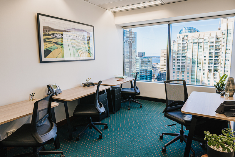 Modern 3-person private office with access to coworking breakout areas