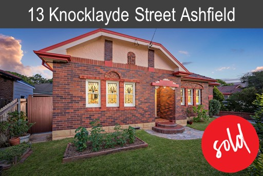 Vendors of 13 Knocklayde St Ashfield
