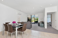 Ground floor two bedroom apartment boasting SMEG kitchen appliances, stone bench tops and private outdoor area.