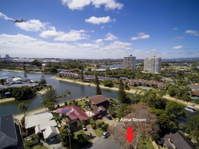 POTENTIAL IS HERE - DO NOT MISS THIS ONE,Absolutely Prime - Dual Street Frontage In the Heart of Broadbeach Waters