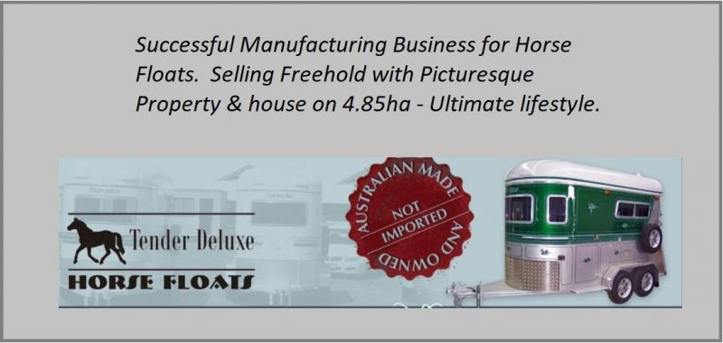 SUCCESSFUL MANUFACTURERS OF HORSE FLOATS.  SELLING WITH FREEHOLD PROPERTY