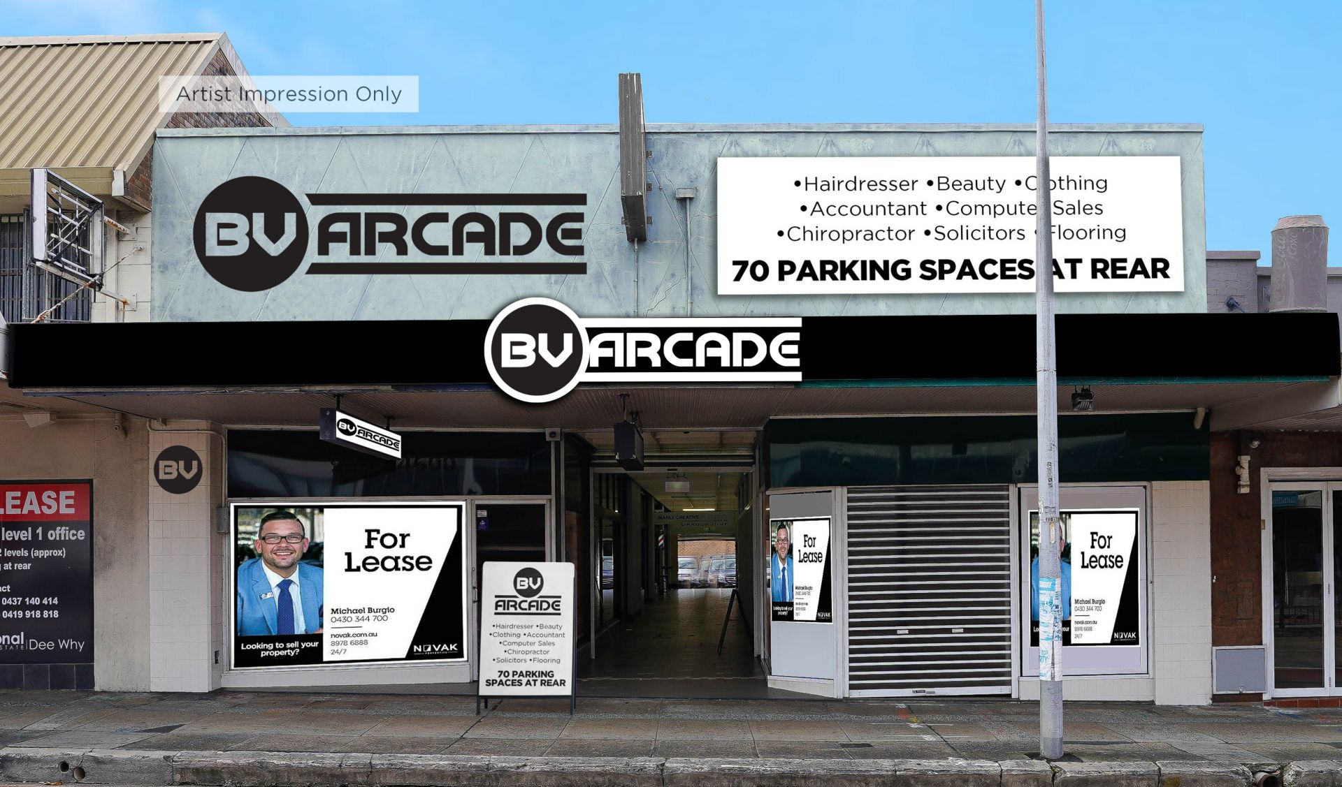 STREET FRONT RETAIL SPACE IN 'GROOVY' ARCADE