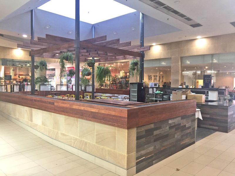 High quality restaurant fit out, in the boutique Manuka Village