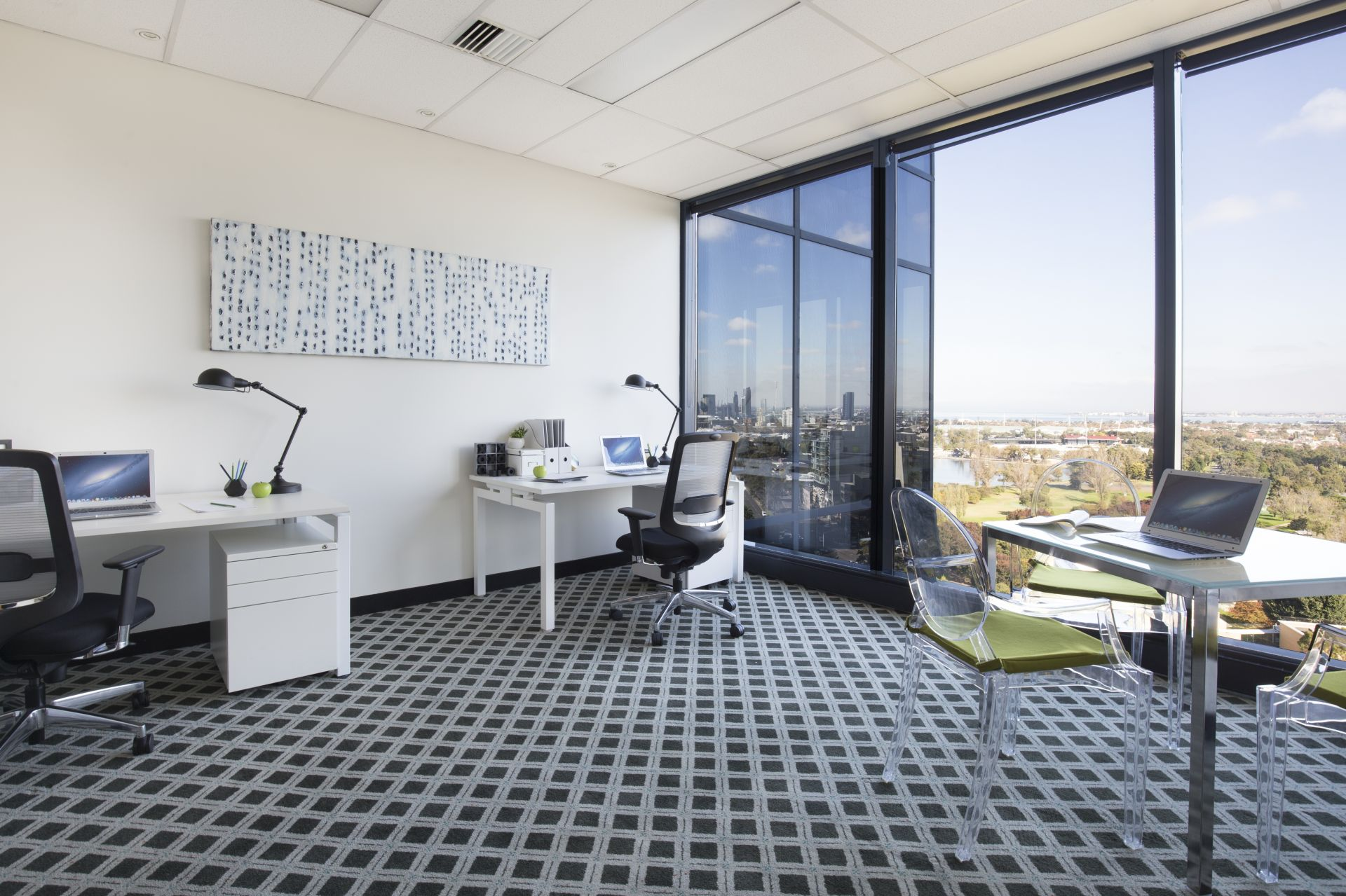 Sky high office with sensational Port Phillip Bay views
