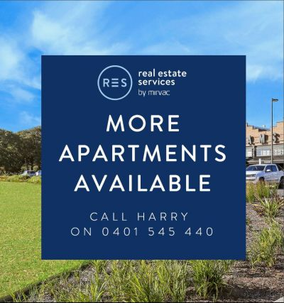 More apartments available- Call Harry 0401 545 440