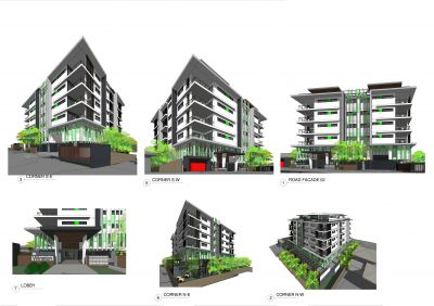 Double Block with DA for 31 Unit, 8 Storey Boutique Apartment Complex, Great Holding Income