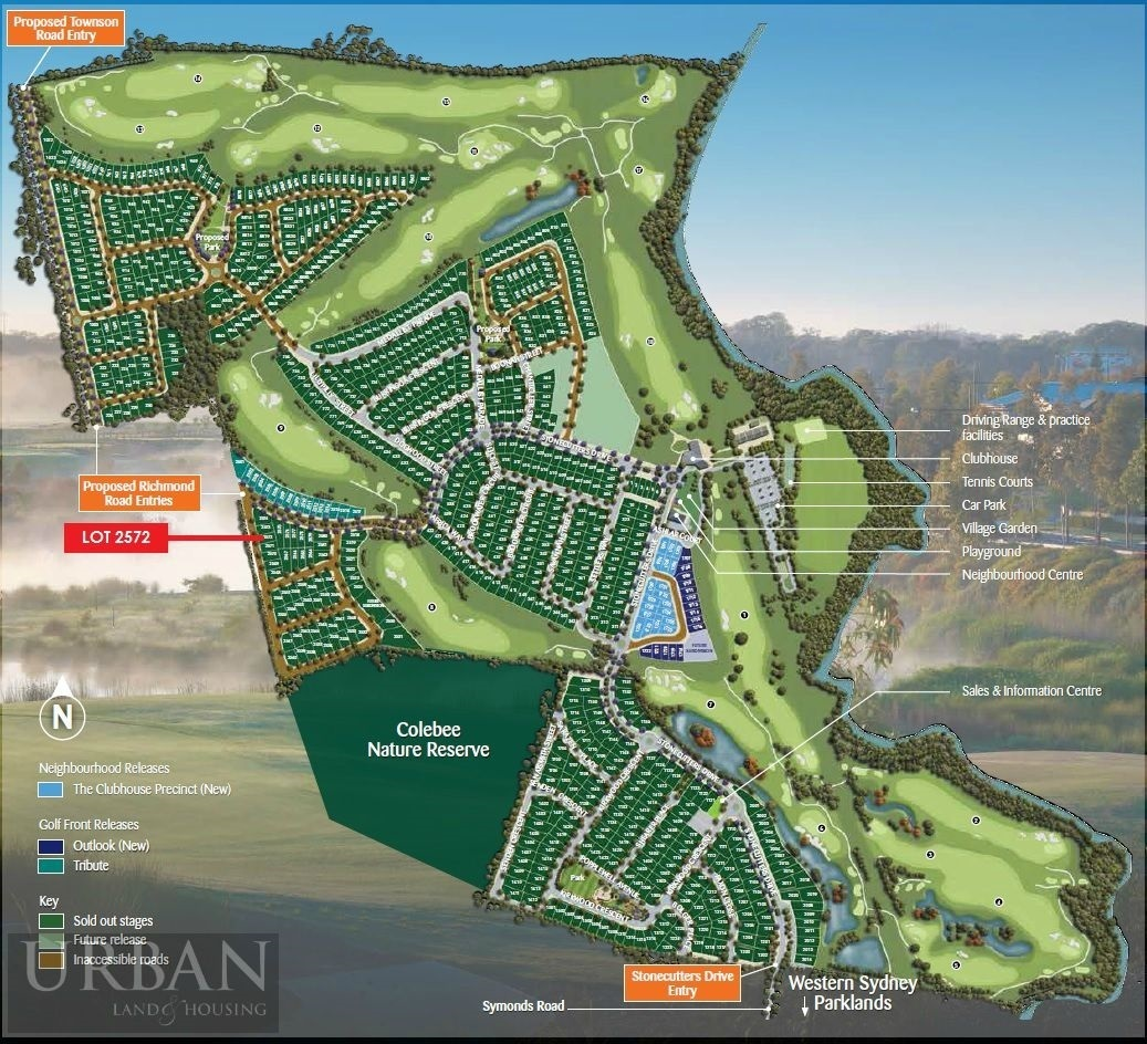 Colebee Lot 2572  Proposed Road | Stonecutters Ridge