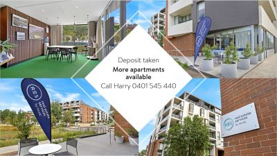 Deposit taken- More apartments available- Call Harry 0401 545 440