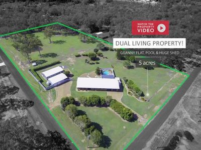 AMAZING DUAL LIVING PROPERTY on 5 ACRES + POOL & SHEDS!