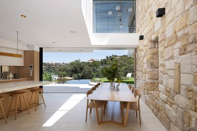 Incomparable home with dazzling views across Mosman Bay.