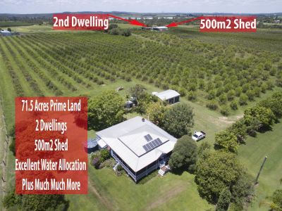 OPPORTUNITY FOR PRIMARY PRODUCTION ABOUNDS – 71.5 ACRES – FANTATIC WATER SUPPLY 2 HOMES + 600M2+ WORTH OF SHED SPACE……