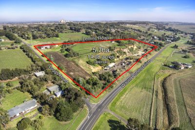 5.7ha 14 acres approx.  Rural Living Zone on 10 Titles
