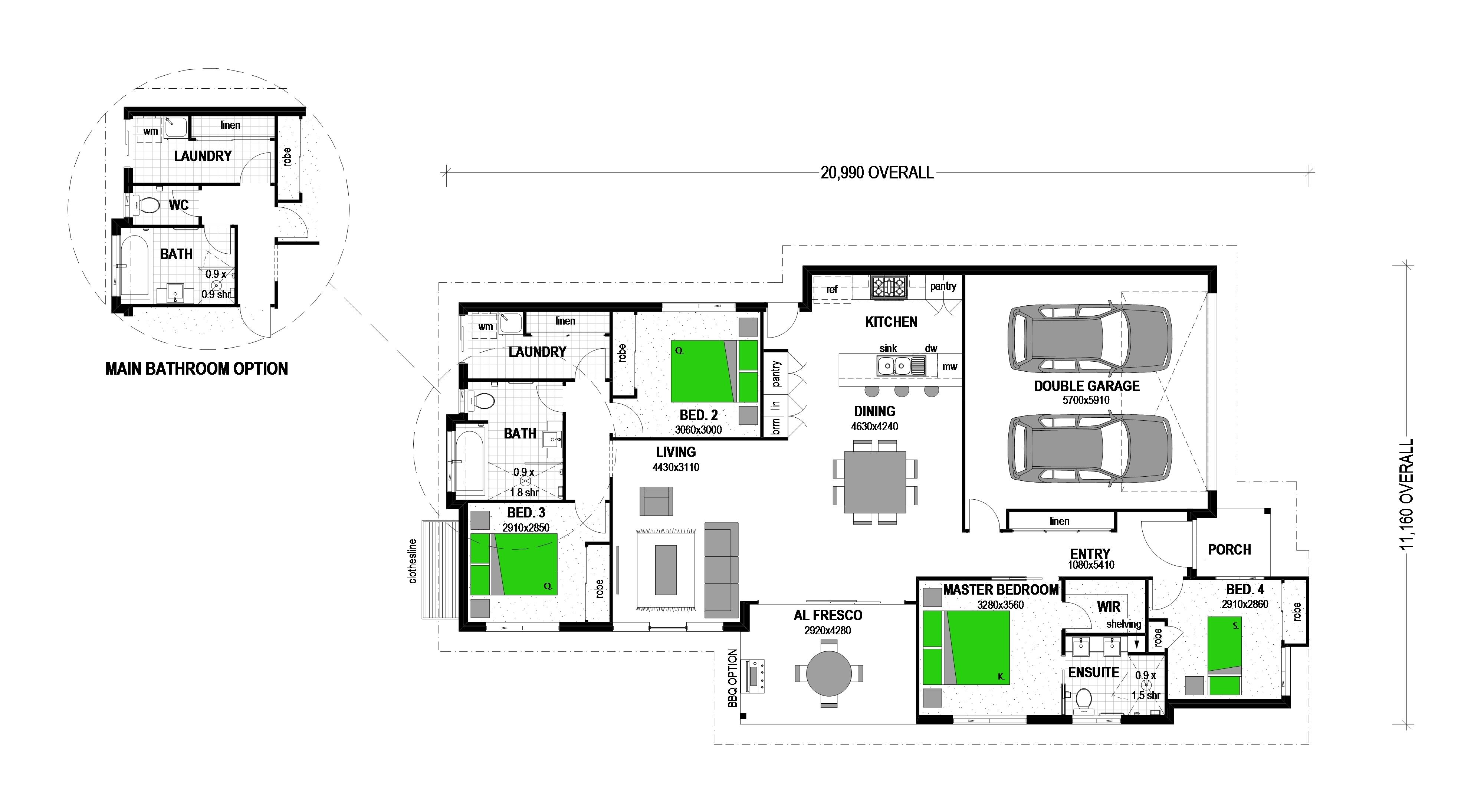 "LOT 67 WEATFIELD STREET ""KALBAR COUNTRY ESTATE"" KALBAR Floorplan"