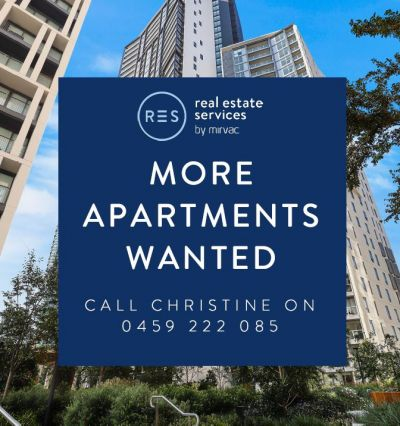 More apartments wanted - Call Christine on 0459 222 085 today!