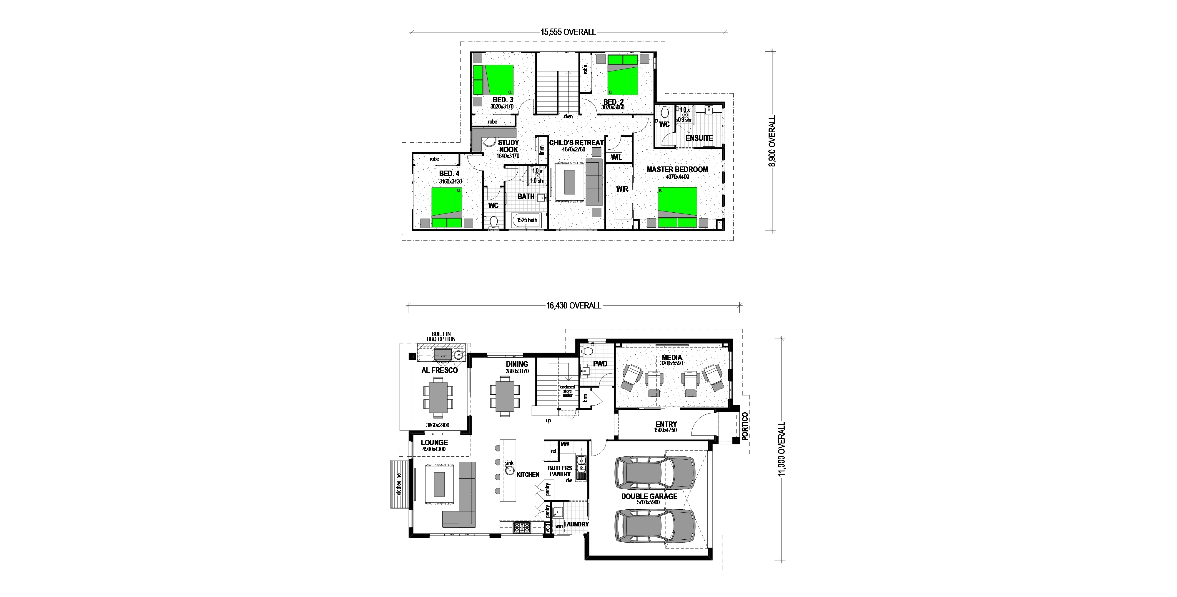 "LOT 1298 TEAL CIRCUIT ""EVERLEIGH"" GREENBANK Floorplan"