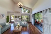 Hinterland views, soaring ceilings + huge block