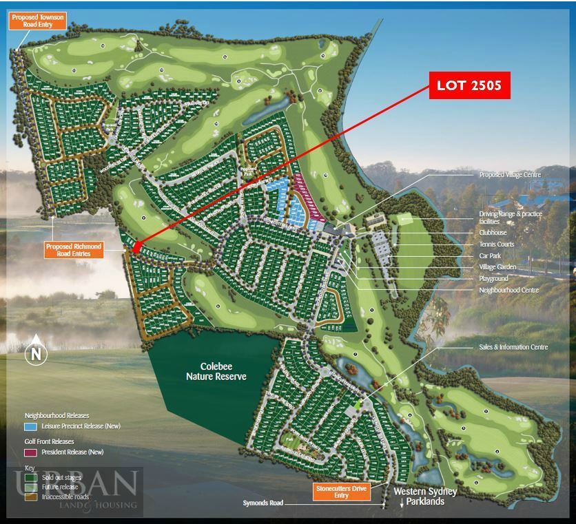 Colebee Lot 2505 Proposed Road | Stonecutters Ridge