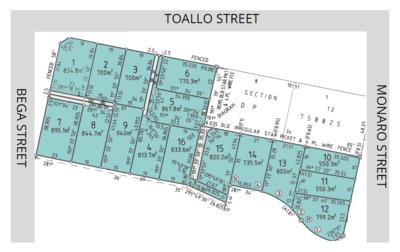 Lots 1-16 Corner of Monaro Street, Toallo Street and Bega Street, Pambula