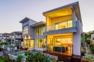 Stunning Architect Designed Waterfront Home with Long Canal Views...