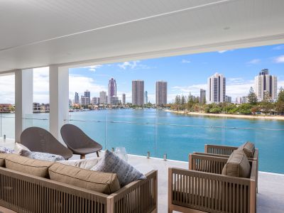 ONLY 1 REMAINS  Third Level Apartment with Jetty and Roof Top Pool and Entertaining Level