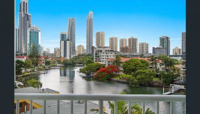 Waterfront Apartment In The Heart Of Surfers. North East 2 Bedrooms 2 Bathrooms
