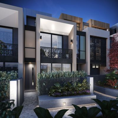 Exclusive High-End, Architecturally Designed Three-Bed Terraces