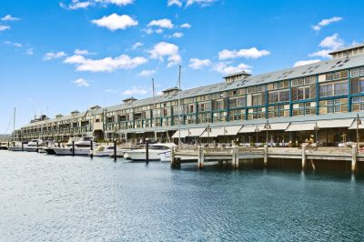 Finger Wharf Apartment with Outstanding Yield