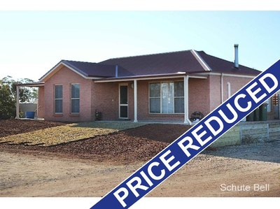 Acreage with a three bedroom house