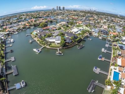 Totally renovated single level waterfront  long canal views