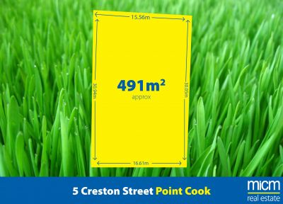 491 sqm (approx.) of Exciting Upper Point Cook Potential