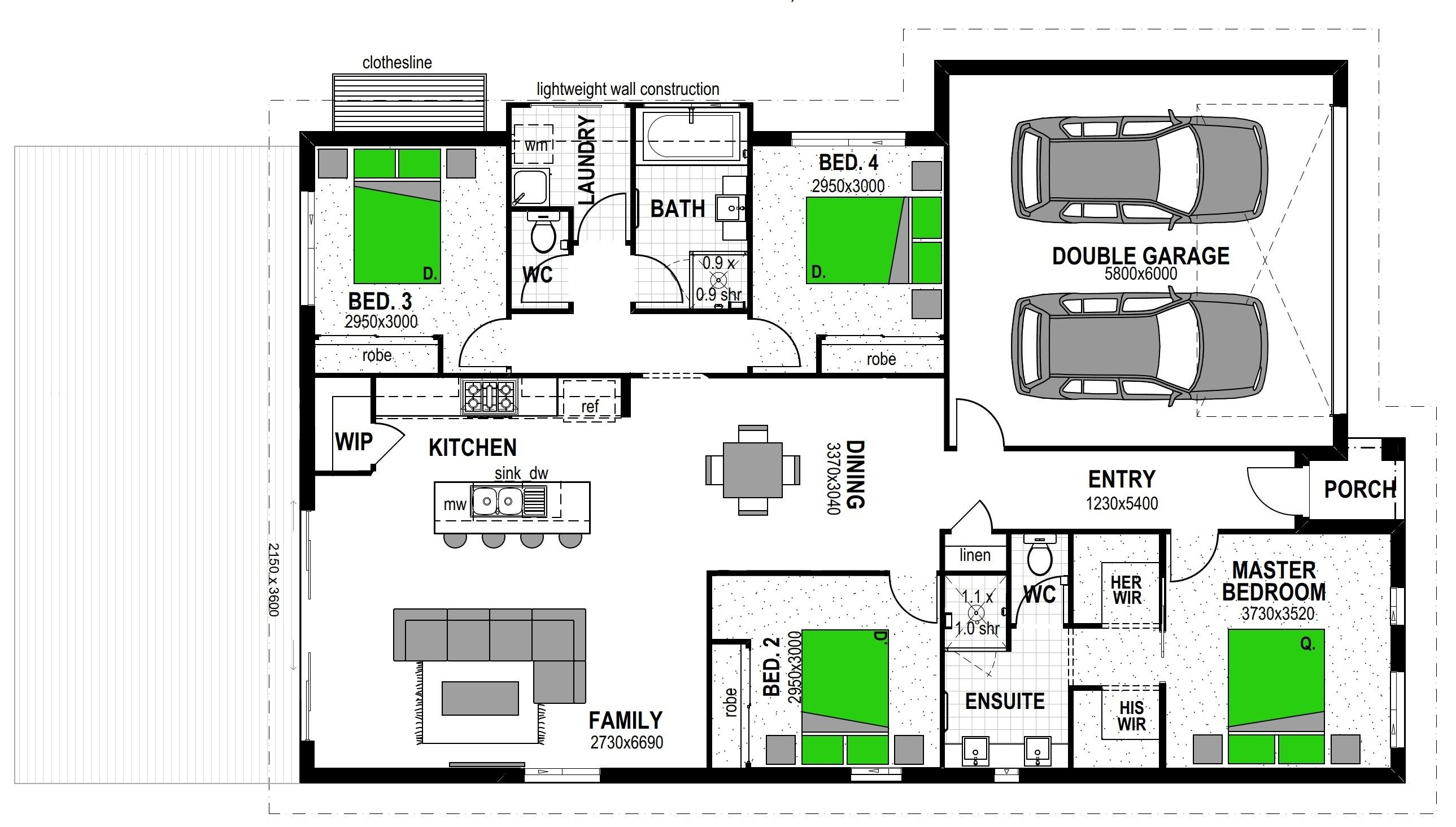 260 THORNCOMBE RD TE AWAMUTU Floorplan