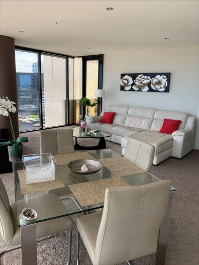 Fully furnished abode with views to the waterfront