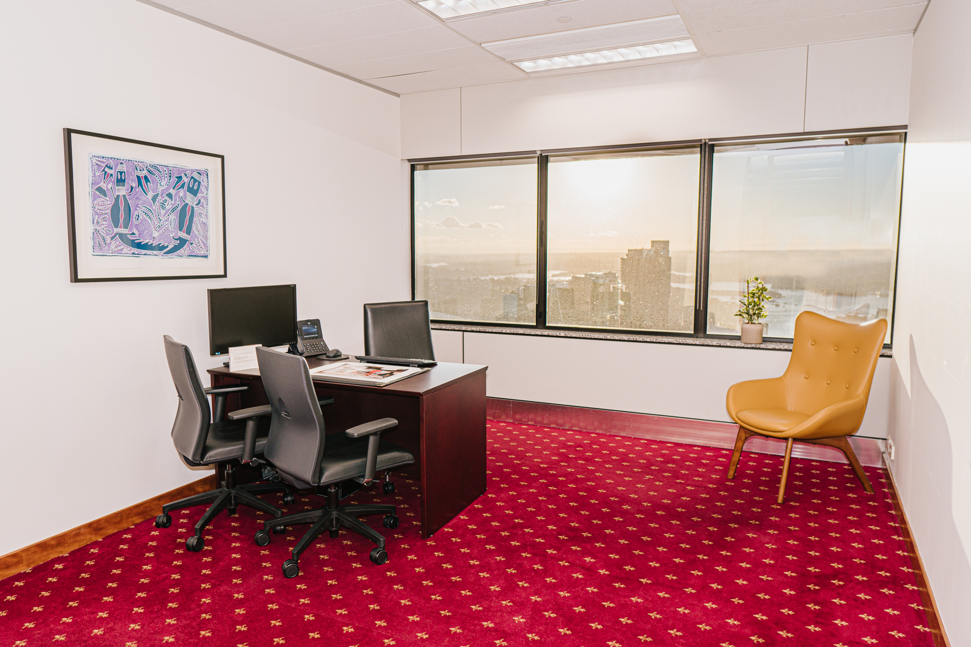 Modern 1-person private workspace with unlimited access to Coworking breakout areas