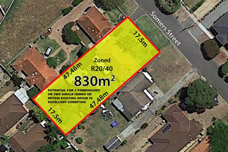 830sqm BLOCK ZONED R20/40