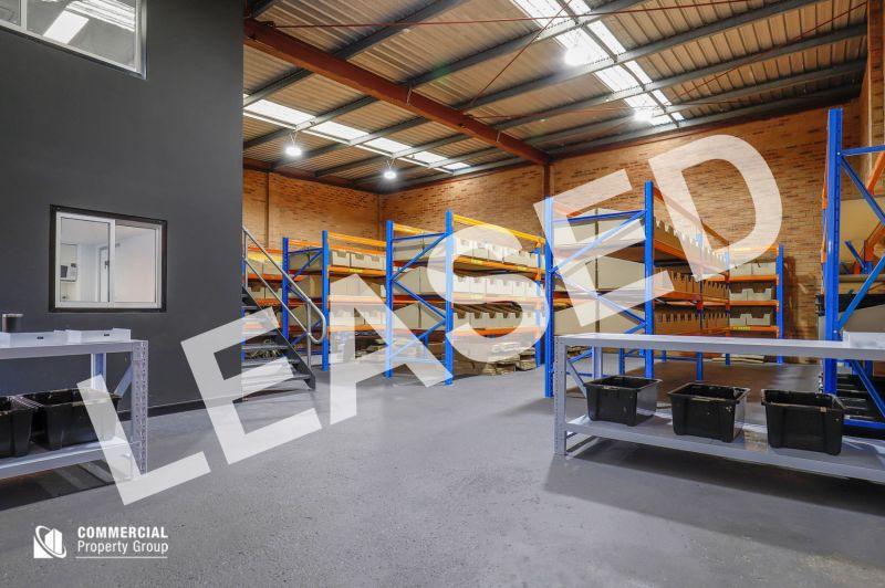 LEASED BY HAYDEN BENNETT & DAMEN ASTEY - 222M² OFFICE & WAREHOUSE