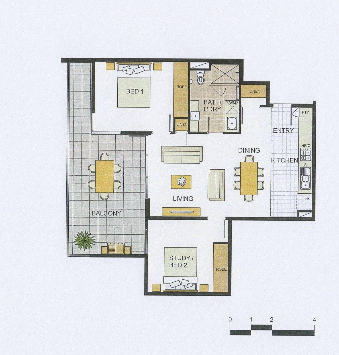 Baystone Apartments: Level 5/501/25 Malata Crescent