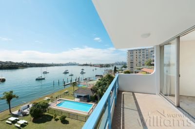 Original waterfront apartment with captivating views