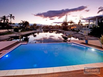 Wide Waterfront Entertainer with Dual Living